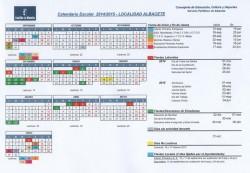 Calendario Escolar 2014-2015 - Localidad: Albacete