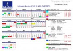 Calendario escolar 2015-16 - Localidad: ALBACETE