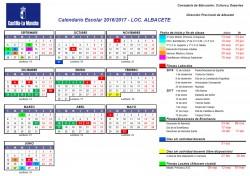 Calendario escolar 2016-17 - Localidad: ALBACETE